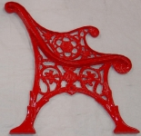 Iron Bench Powder Coating After